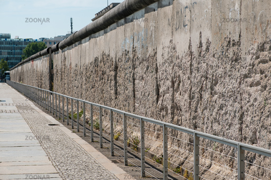 A preserved section of the Berlin Wall   -