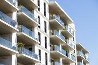 Facade of an apartment building