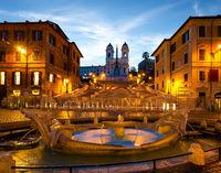 Illuminated Piazza di Spagna
