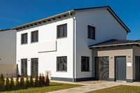 New construction of a modern residential building