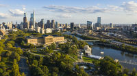 The Schuylkill River Meanders Flowing thru Downtown Philadelphia PA