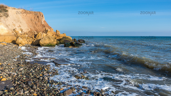 Rock on the edge of the Black Sea