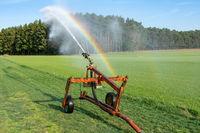 Watering a field