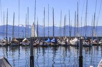 Marina, Lindau, Lake Constance, landscape