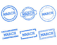 March Stempel - March stamps