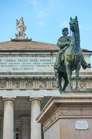 Equestian statue of Giuseppe Garibaldi in Genoa