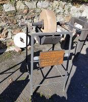 Schleifstein, Schleifscheiben, alte, Antike, Sammlung, Muehlenmuseum