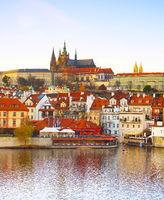 Prague Castle, Vltava . Czech Republic