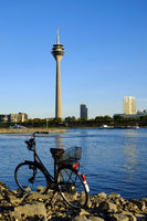 Dusseldorf, bicycle on River Rhine