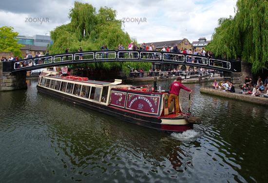 Tour boat at Camden Market - London