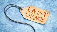 Last chance - paper price tag with a twine