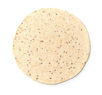Top view of multigrain tortilla
