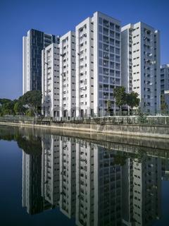 A block of flats along Geylang River at Geylang Park Connection