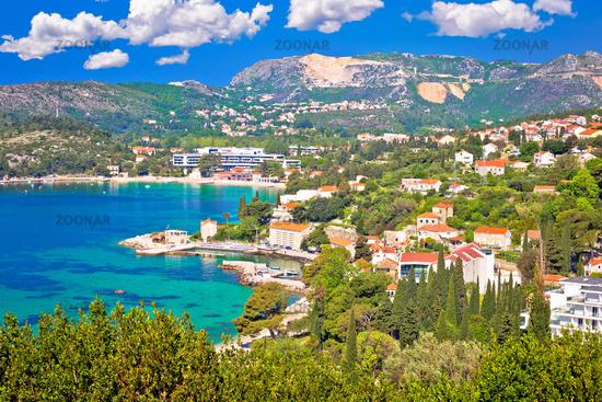 Adriatic coast view in Srebreno and Mlini bay