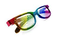Sunglasses, transparency, rainbow flag, LGBT community, dewdrop, Concept, LGBT movement, LGBT,