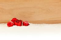 Weihnachten Geschenk Hintergrund mit Dekoration