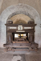 old grape press in the eberbach monastery near eltville germany