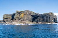 Staffa island seen from sea