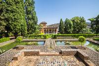Gardens of La Alhambra in Granada, Spain