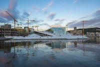 Oslo Opera House at Oslofjord in Oslo city, Norway