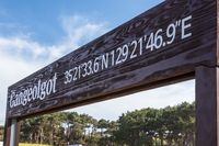 Entrance Sign to Ganjeolgot with GPS Coordinates. Easternmost Point of Peninsula in Ulsan, South Korea. Asia