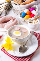 Zurek delicious easter soup after polish style