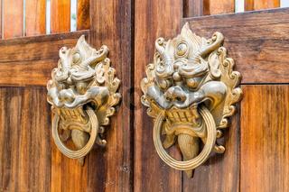 traditional door knocker closeup