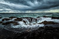 Stormy Day at Thor's Well, Oregon, USA