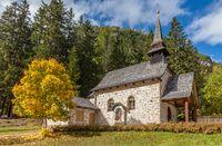 Small chapel at the Lake Braies