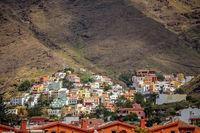 Hillside homes in the Valle Gran Rey