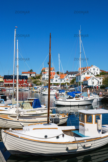 Harbor in Mollosund on the Swedish west coast