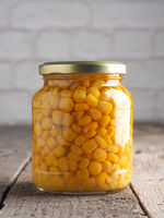 Organic corn in a jar