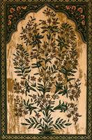 Painted flower Maharaja Palace