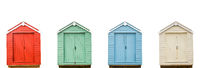 Four Vintage Beach Huts