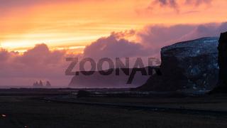 Landscape at sundown, Iceland, Europe