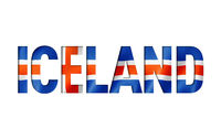 iceland flag text font
