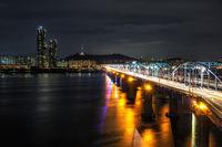 Dongjak bridge and Namsan tower