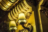 Luxury histric hotel lobby interior