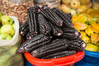 Black corn cobs