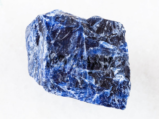 rough Sodalite stone on white