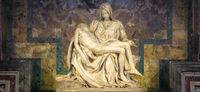 The pity: Michelangelo masterpiece in Saint Peter Basilica - Vatican