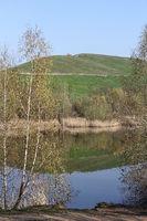 Arkenberge hill and Biotopsee lake in Berlin