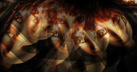 Digital 3d Illustration of Fairy Faces