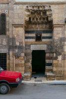 Mosque entrance at Souq El Selah Street, Darb El Ahmar district, Cairo, Egypt