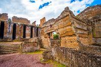 Tivoli - Villa Adriana in Rome - archaeological landmark in Italy