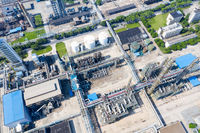 aerial view of petrochemical plant