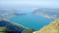 The Lake Zug from the Mount Rigi