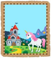 Fairy tale unicorn topic parchment 2