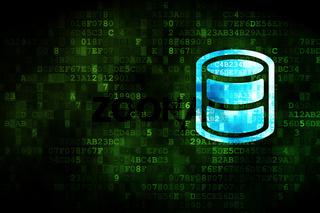 Programming concept: Database on digital background