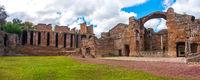 Roman ruins panoramic Grandi Terme area in Villa Adriana or Hadrians Villa archaeological site of UNESCO in Tivoli - Rome - Lazio - Italy
